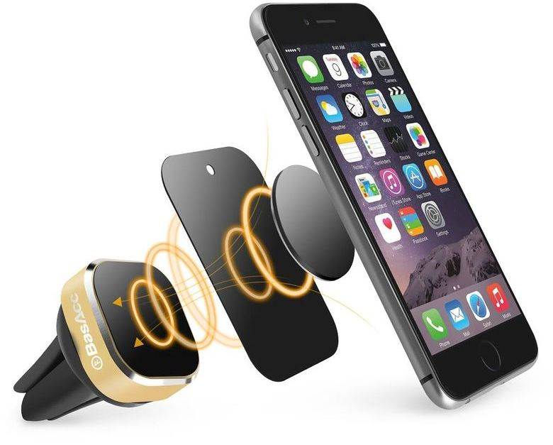 Magnetic cell phone mounts from $6 at Hollar