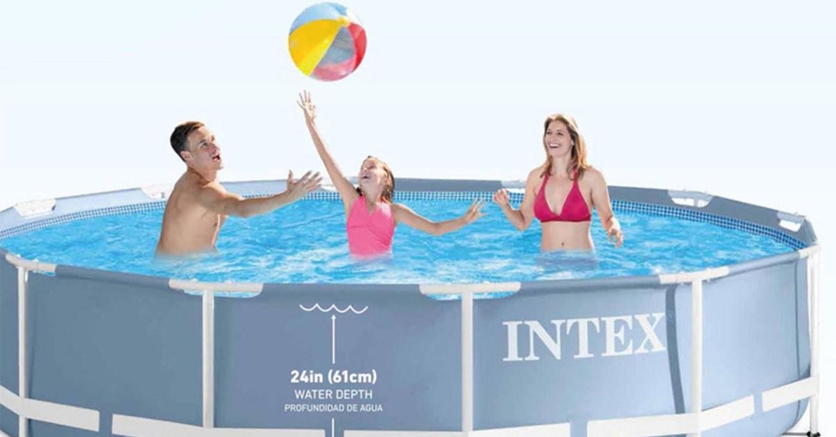 Intex 12'x30 prism frame pool set for $81