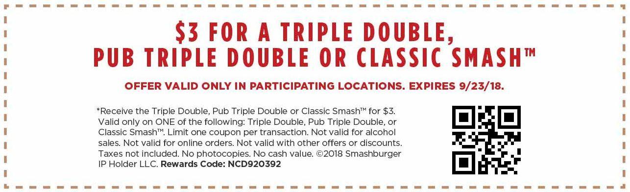 image relating to Smashburger Printable Coupons called Smashburger printable coupon creates pick entrées simply $3