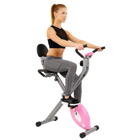 Sunny Health and Fitness folding recumbent exercise bike for $98