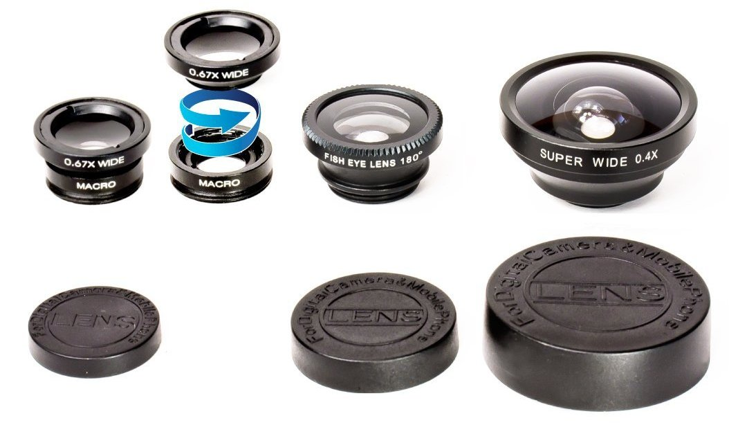 Today only: 2 LUX 5-in-1 lens kits for $15 shipped