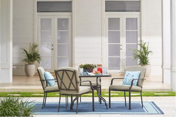 Hampton Bay Bradley 5-piece outdoor dining set with cushions for $149, free store pickup