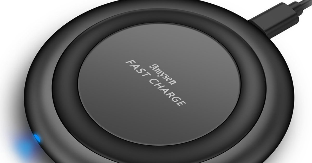 Amysen wireless charging pad for Qi enabled phones for $9