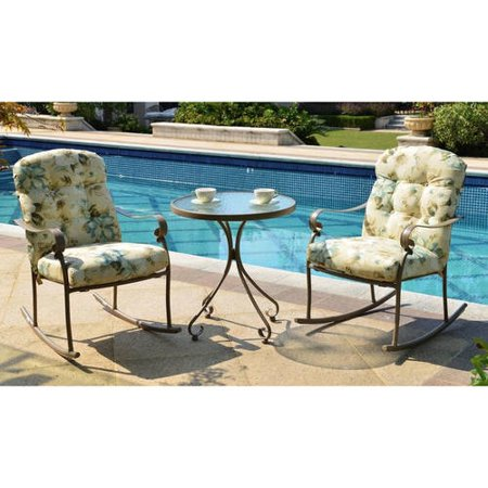 Mainstays Willow Springs 3-piece rocking outdoor bistro set for $125