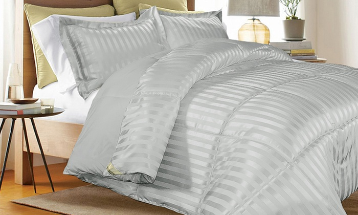 Today only: 3-piece Kathy Ireland reversible down-alternative comforter set from $27