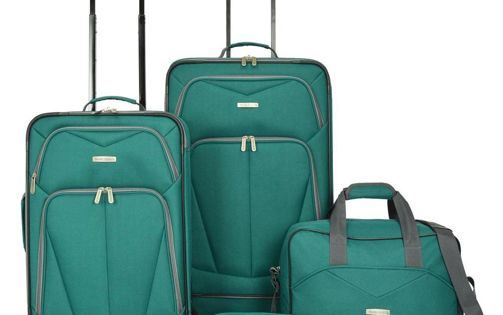 Traveler's Choice 4-piece green luggage set