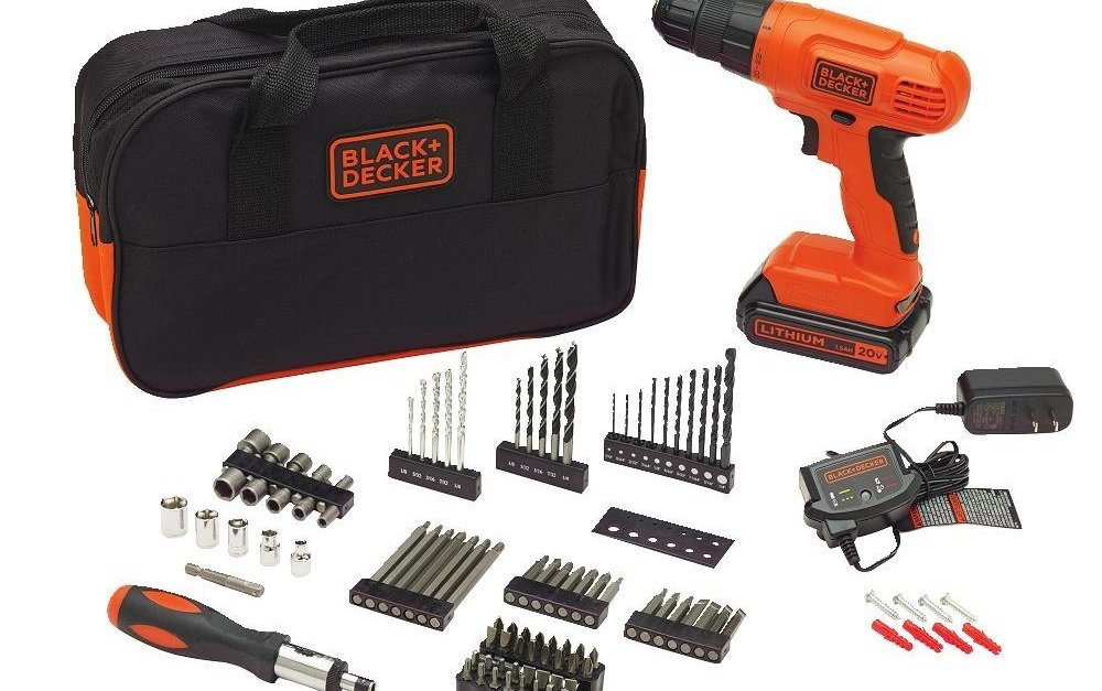 Black+Decker cordless project kit with 100 accessories for $43