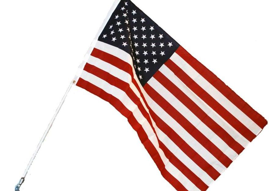 Ends today! American flag with mounting kit for $7