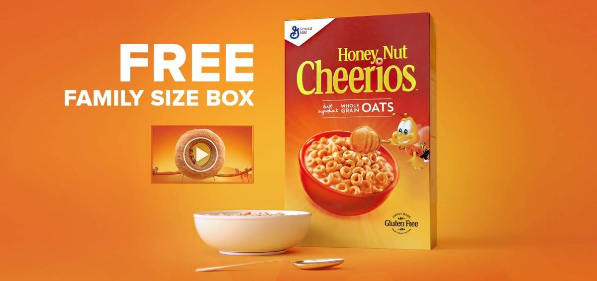 AmazonFresh: FREE family-sized box of Honey Nut Cheerios