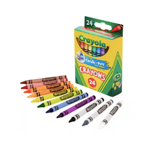 24-count Crayola classic crayons for $.50