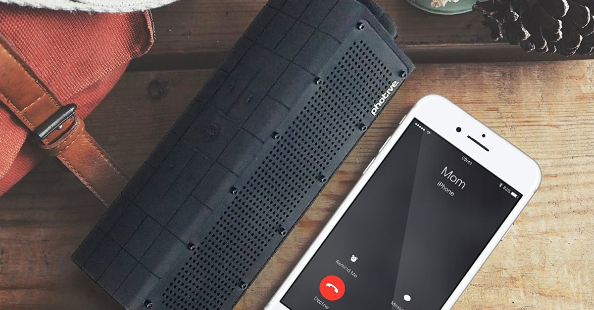 Today only: Photive Hydra Bluetooth waterproof rugged portable speaker for $23
