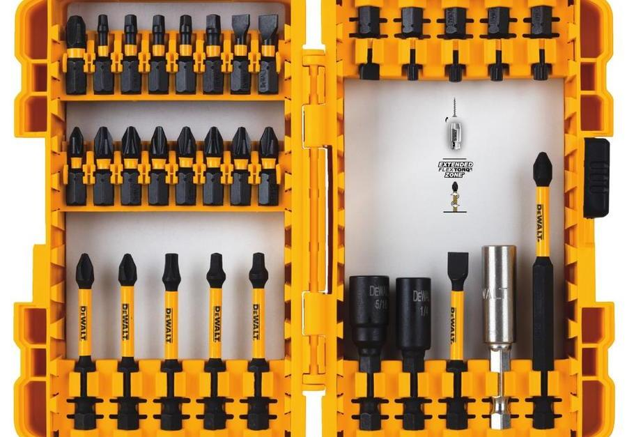 Dewalt FlexTorq 31-piece impact driver bit set for $9