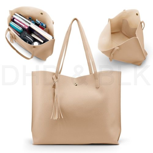 Women's PU leather shoulder tote bag for $12, free shipping
