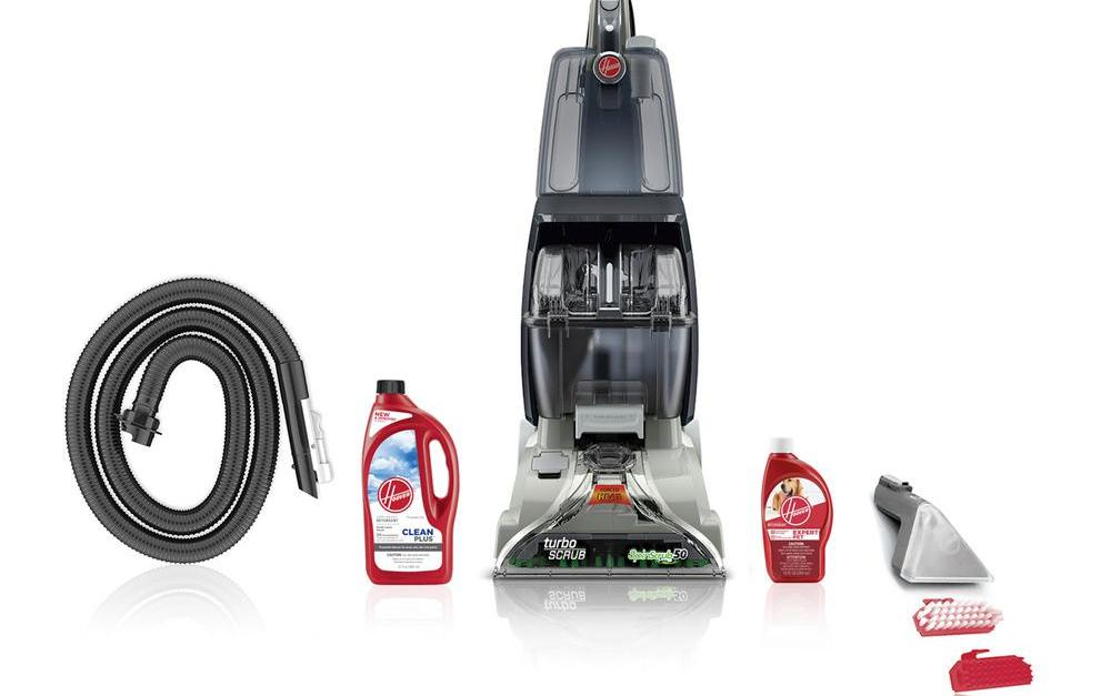 Today only: Hoover Turbo Scrub upright carpet cleaner expert pet bundle for $108