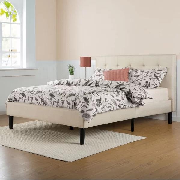 Leonard upholstered platform bed for $146