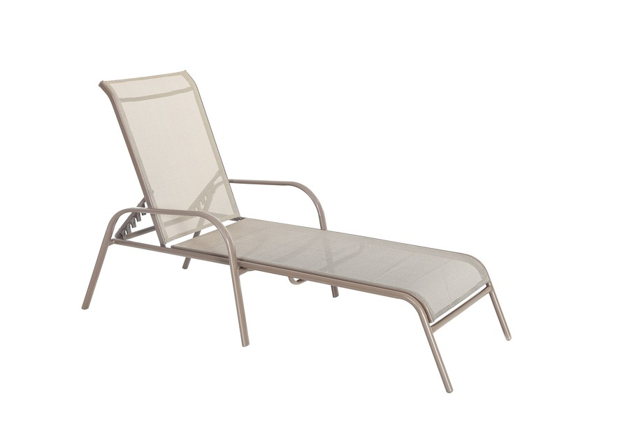 Price drop! Garden Treasures stackable steel chaise lounge chair for $21