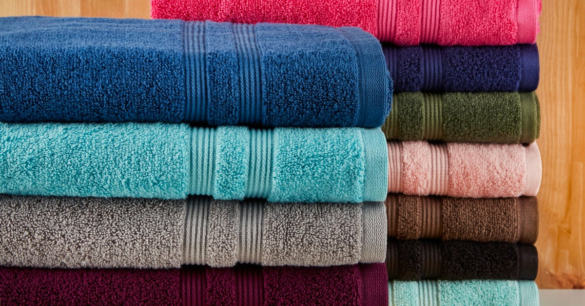 Mainstays Solid Performance towels 6-piece set from $9