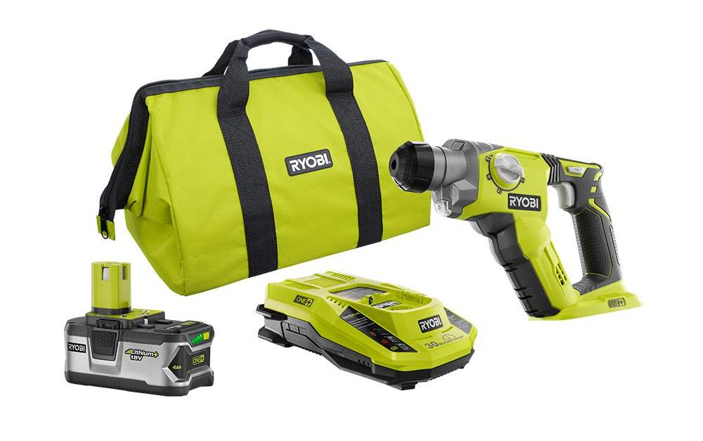 Ryobi 18-volt ONE+ 1/2 in. rotary hammer drill kit for $129