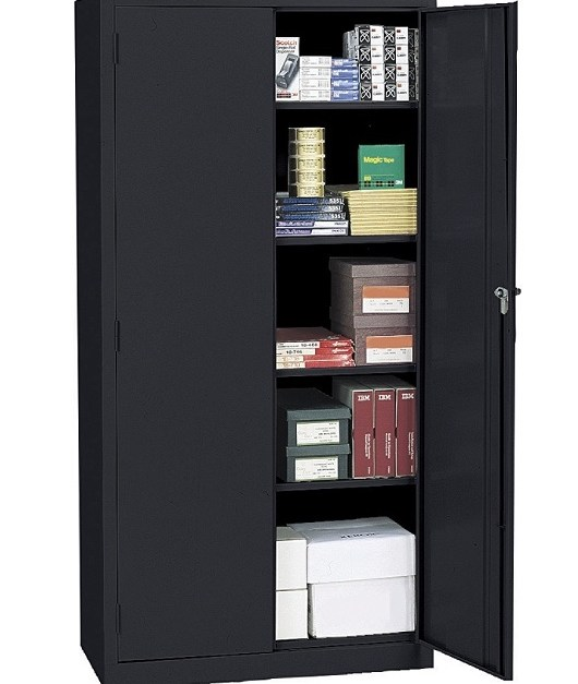 Realspace 72″ steel storage cabinet with shelves for $145, free shipping
