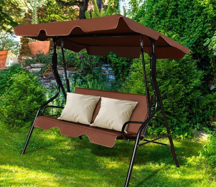 Costway outdoor canopy swing for $74