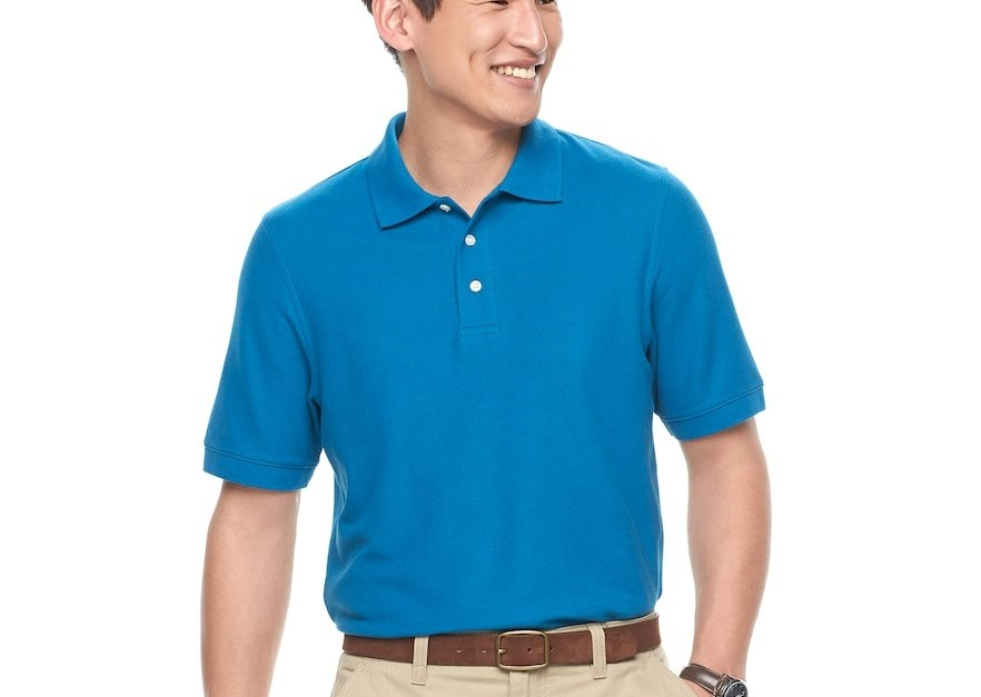 Men's Croft Barrow classic fit performance polo for $7