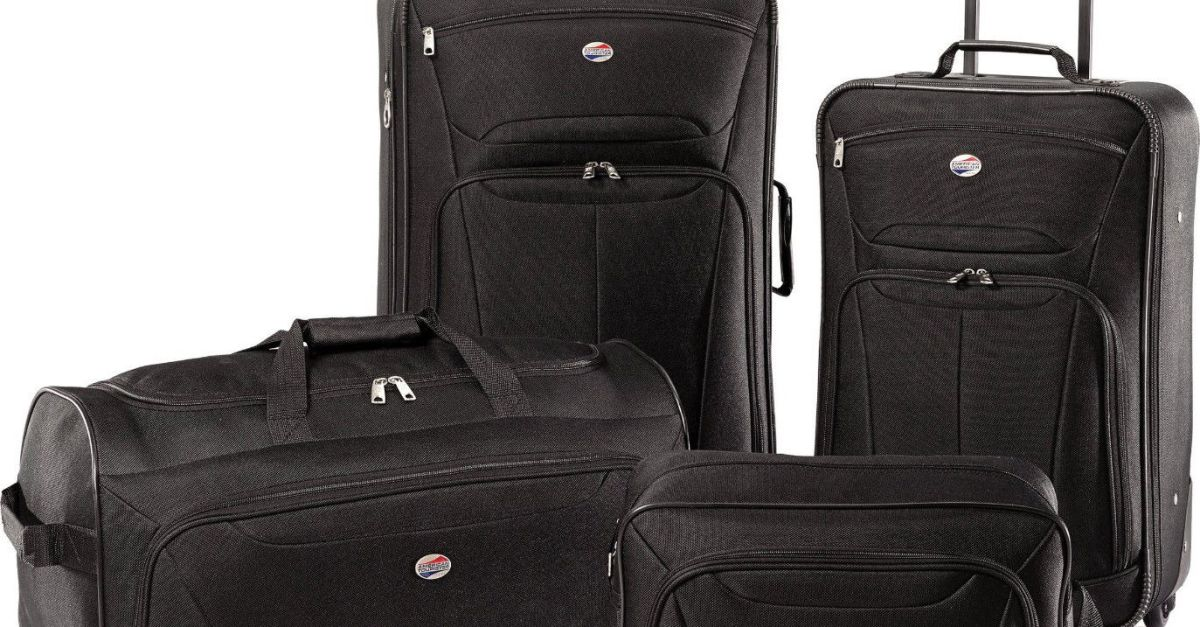 4-piece American Tourister Fieldbrook XLT luggage set for $64