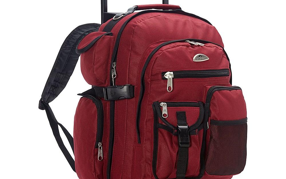 Everest deluxe wheeled backpack for $33, free shipping
