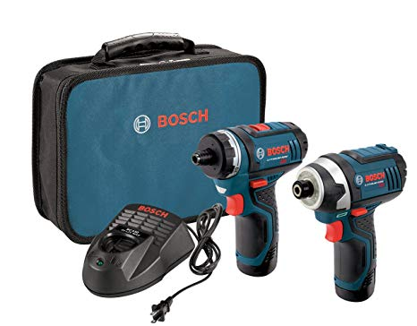 Today only: Bosch 12-volt max drill/driver combo kit with 2 batteries for $98