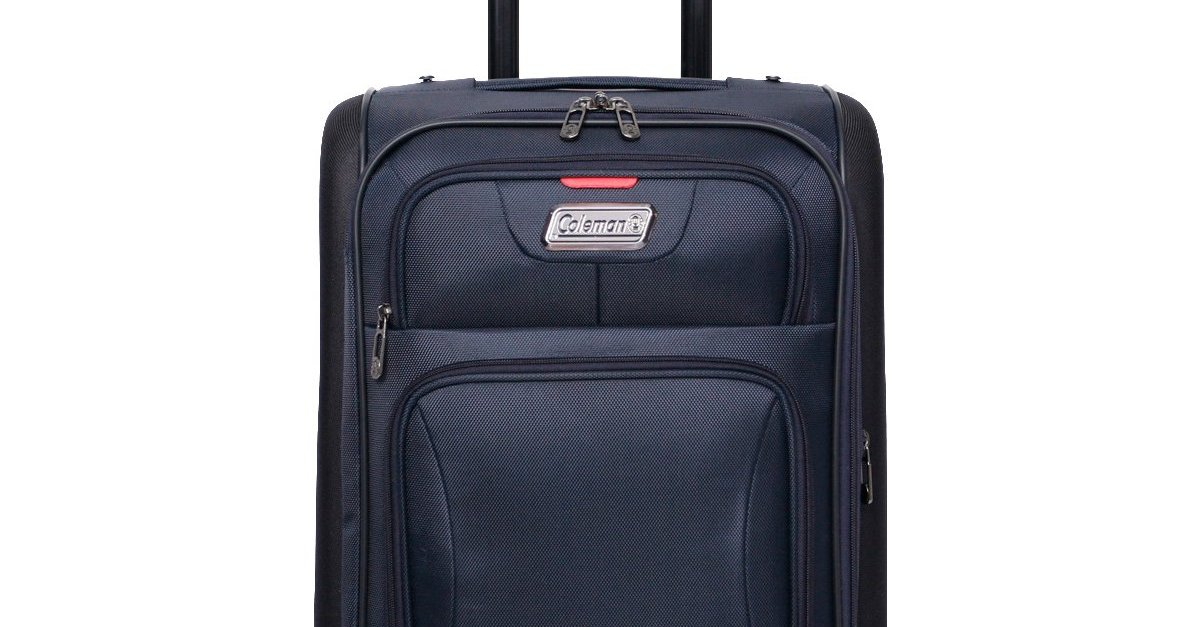 Coleman 20-in Emporia molded soft-side upright rolling suitcase for $20