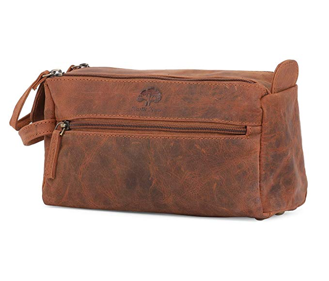 Today only: Leather travel bags from $20