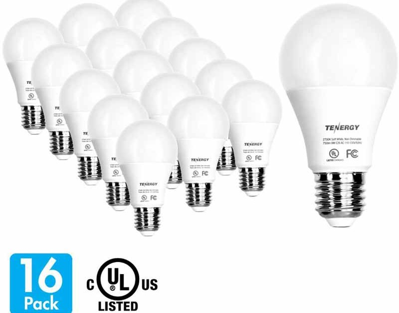 16-pack Tenergy LED light bulbs 9W for $9