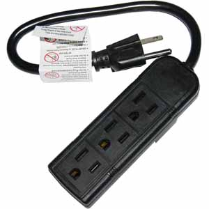 Today only: 3-outlet power strip for $1, free store pickup
