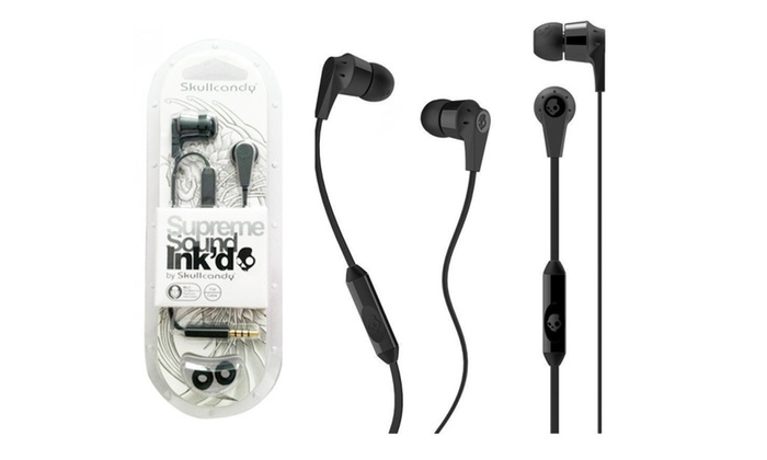 Skullcandy Ink'd 2.0 earbuds with mic headset for $8