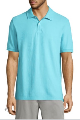 St. John's Bay men's solid performance pique polo shirt for $5