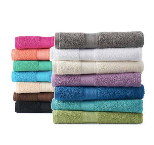 The Big One solid bath towels for $4 at Kohl's