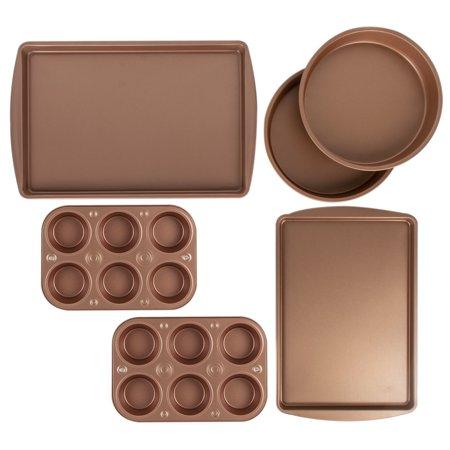 Price drop! BakerEze 6-piece copper nonstick bakeware set for $14