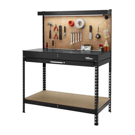 Price drop! Hyper Tough 46-inch workbench with LED light for $49