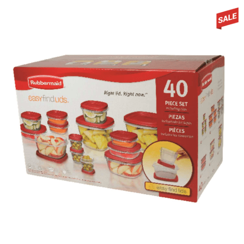 Rubbermaid 40-piece storage set with Easy Find lids for $10