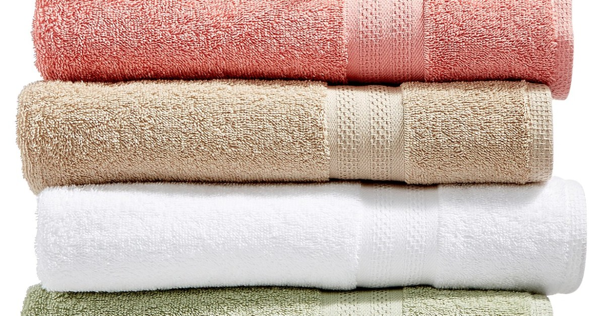 Cotton bath towels from $1 at Macy's