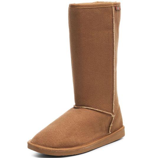 Alpine Swiss women's faux shearling sheepskin boots for $25, free shipping