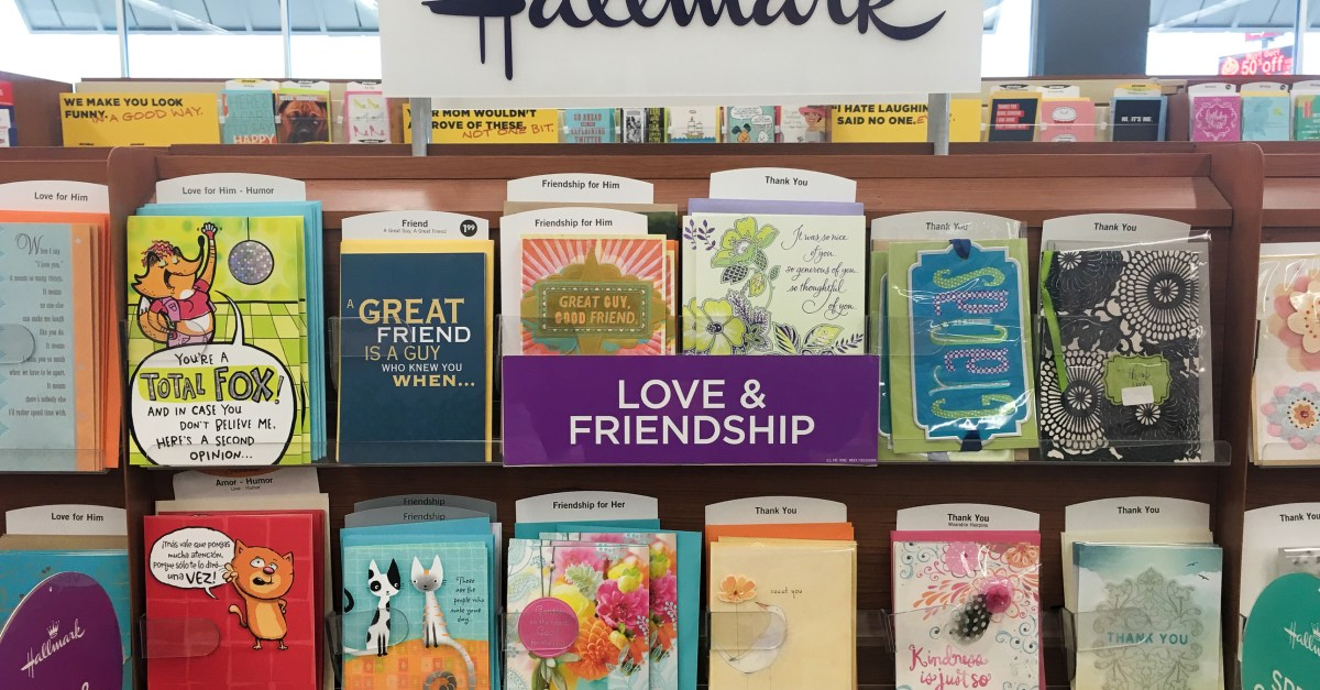 Hallmark coupon: Save $5 on your purchase of $10 or more