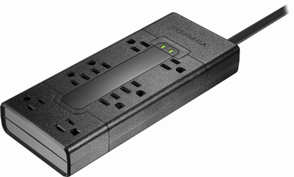 8-outlet surge protector with 2 4K Ultra HDMI cables for $20