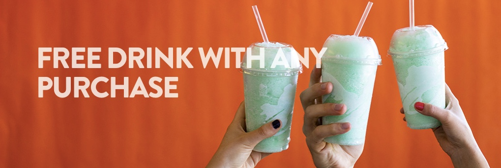 Taco Bell: Get a FREE drink with any purchase