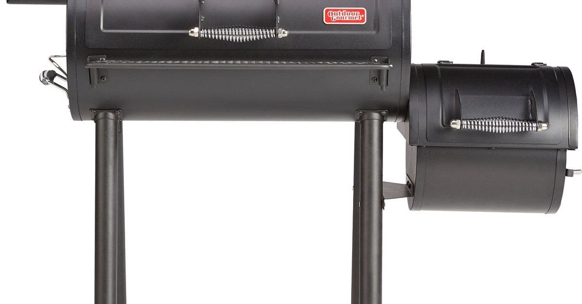 Outdoor gourmet Alamo offset smoker for $70