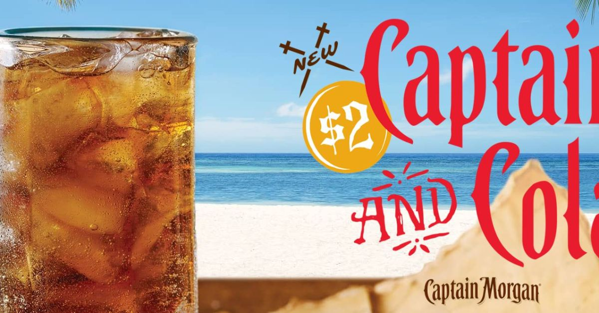 Celebrate January with $2 Captain and Cola cocktails at Applebee's!