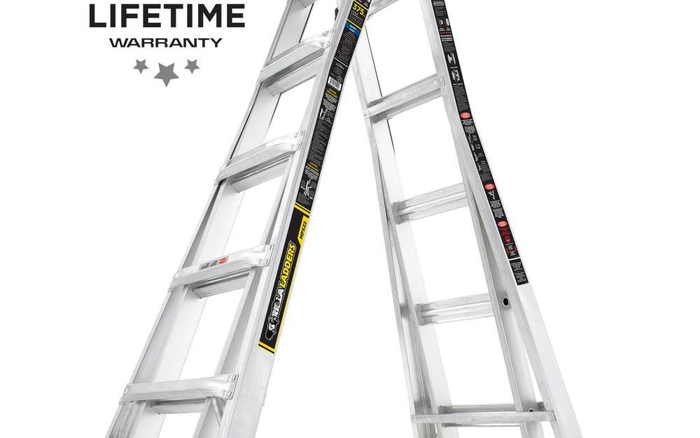 Gorilla Ladders 22-ft. MPX aluminum ladder with 375 lb. load capacity for $99