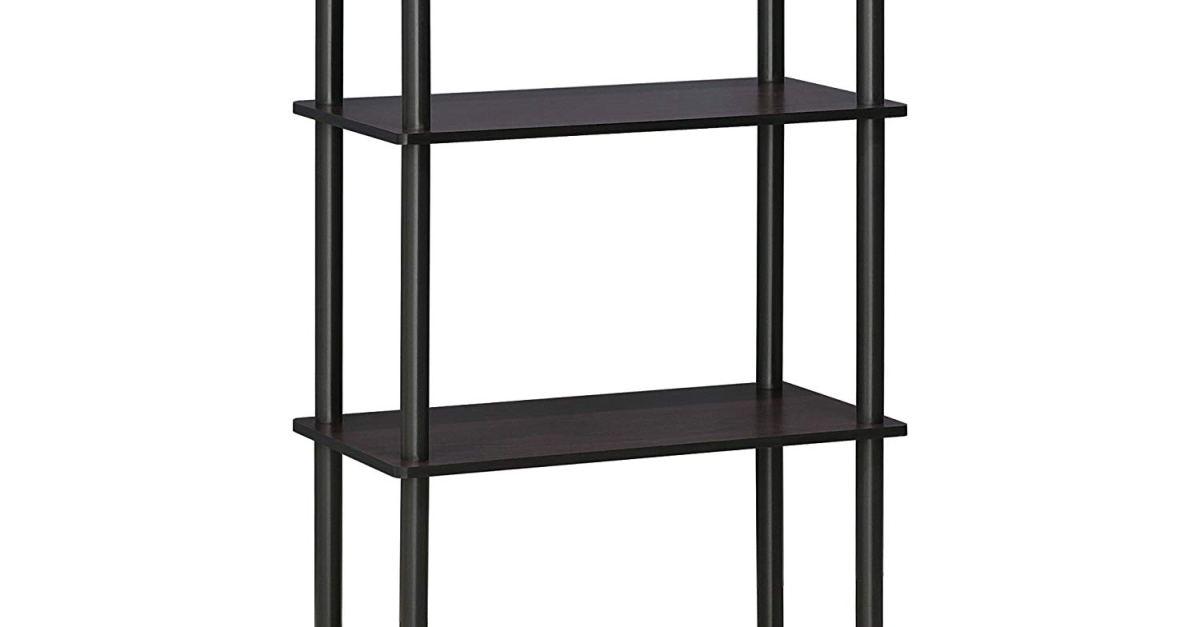 Furinno 4-tier shelf for $21