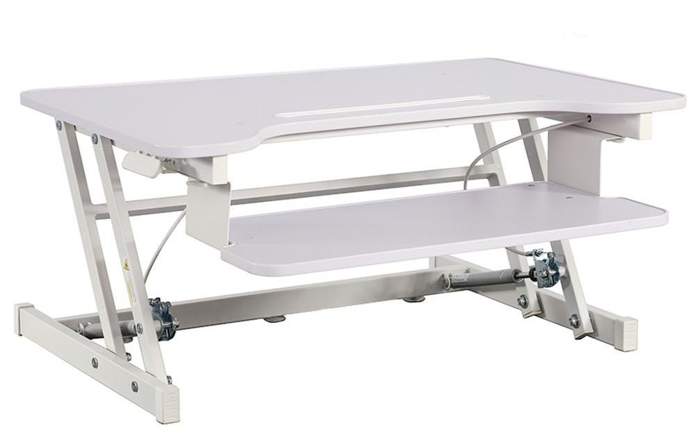 Ends today! Height-adjustable standing desk converter for $76