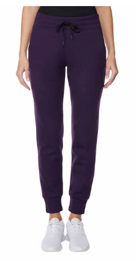 Ladies' 32 Degrees tech fleece jogger pant for $10, free shipping