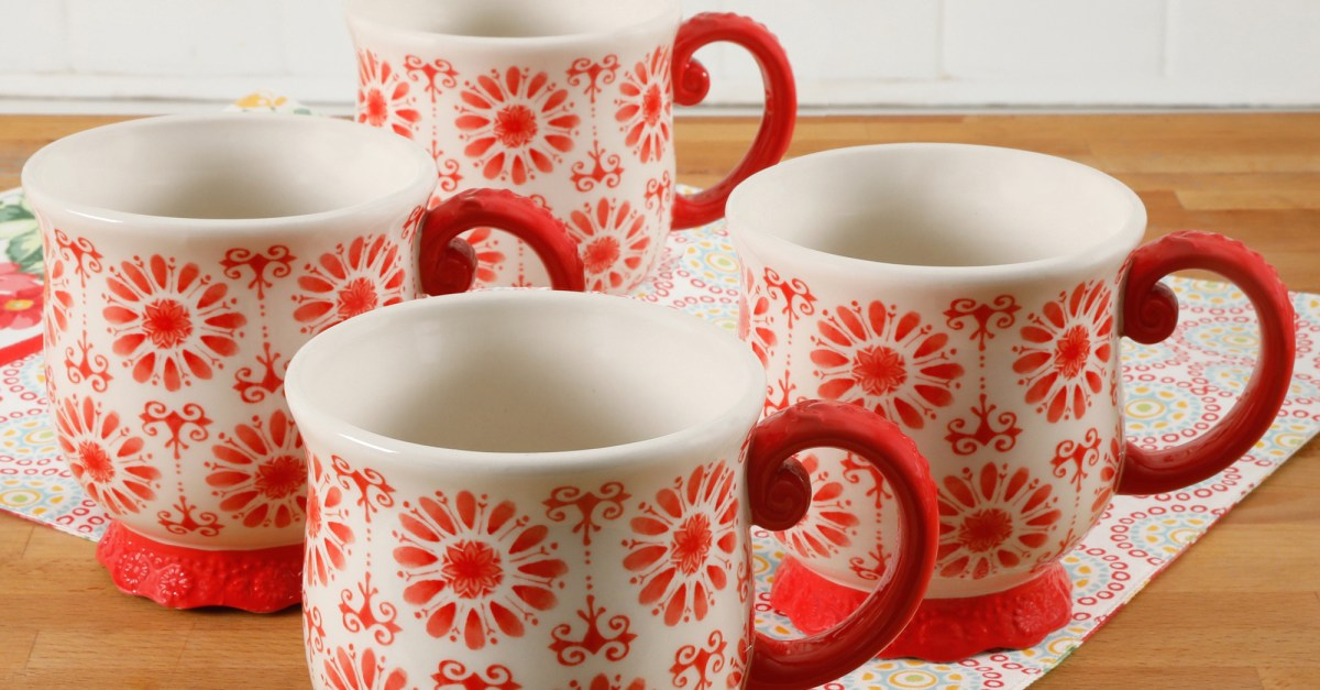 The Pioneer Woman 4-piece floral mug set for $10